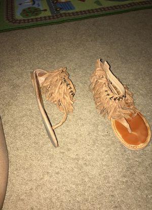 Tan fringe sandals for Sale in Philadelphia, PA