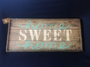 Pier 1 Imports Home Sweet Home Hanging Wall Decor Sign for Sale in Fontana, CA