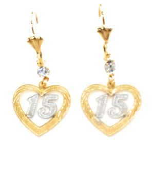 Quinceneria earring with matching pendant for Sale in Chicago, IL