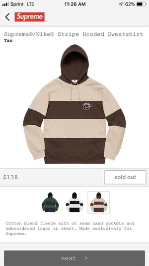 Supreme Nike Striped Hooded Sweatshirt for Sale in Spring Hill, TN
