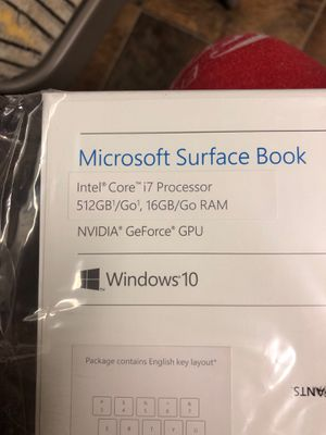 Microsoft surface book for Sale in Brentwood, CA