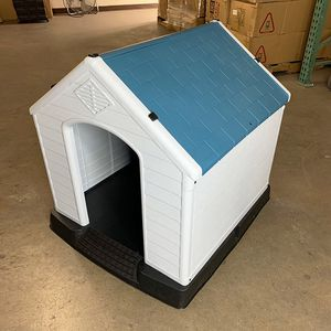 "New in box $75 Plastic Dog House Medium size Pet Indoor Outdoor All Weather Shelter Cage Kennel 35x31x32"" for Sale in El Monte, CA"