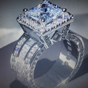 925 Sterling Silver White Sapphire Engagement Ring, Size 6. for Sale in Dallas, TX