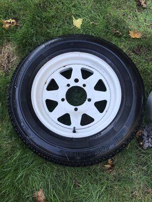 Trailer tire wheel and tire 205/70R15 Bridgestone for Sale in Marysville, WA