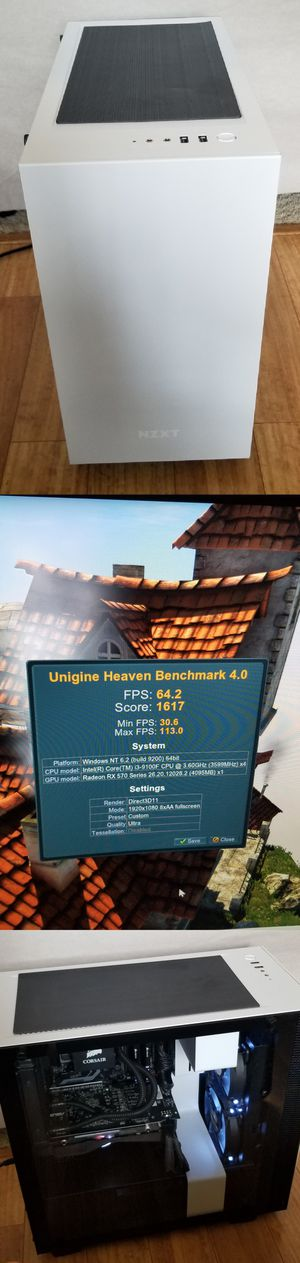 Intel 9th gen mid range gaming computer (NZXT, Corsair, intel, radeon, Asus) for Sale in Hillsboro, OR
