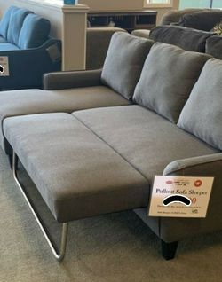 ➡️⬅️ Ashley Gray Soft Sofa Chaise Sleeper👍Apply Financing Online for Sale in Austin,  TX