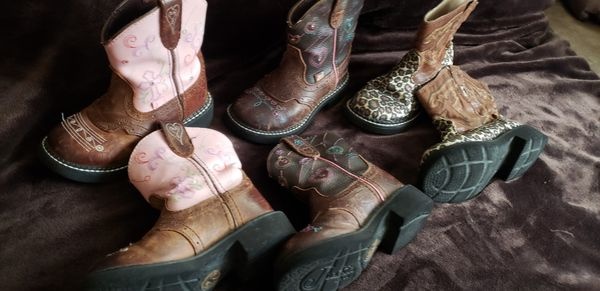 Justin and roper little girls boots