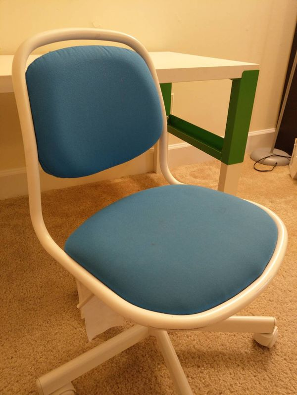Ikea Pahl desk, Orfjall swival chairs