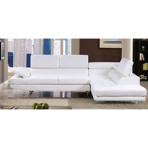 White leather modern sectional for Sale in Dallas, TX