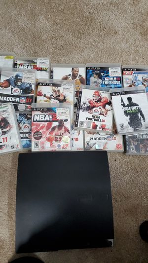Playstation 3 with 17 games. for Sale in Lilburn, GA