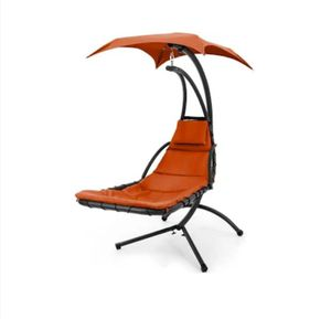 Orange floating chaise lounge swing chair for Sale in Nashville, TN