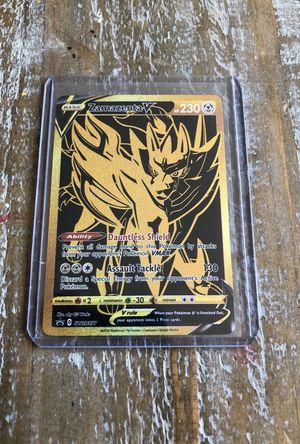 ZAMAZENTA V SWSH77 GOLD ULTRA PREMIUM CARD for Sale in Huntington Beach, CA