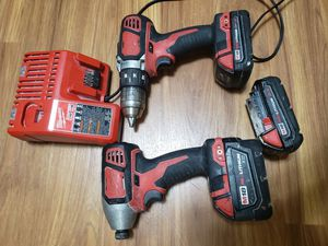 Milwaukee m18 drill set, 3 batteries for Sale in Laurel, MD