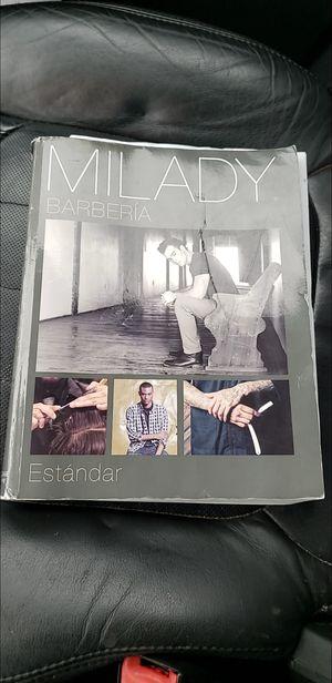 Milady barbering book for Sale in Grand Prairie, TX