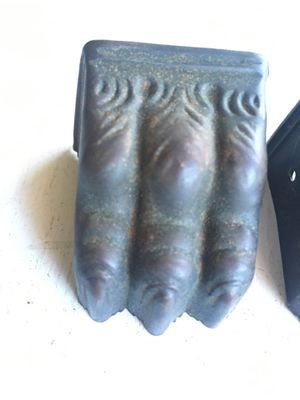 4 Antique metal claw feet furniture feet claw foot hardware for Sale in Dallas, TX
