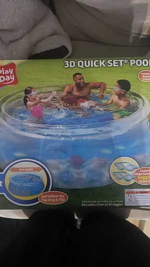 Play Day 3D Quick set 8ft pool for Sale in Severn, MD