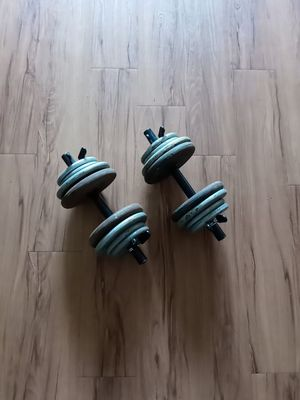 Weights / dumbbells / workout / 72lbs total. for Sale in Fresno, CA