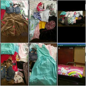 22 pcs. kids clothes & FREE HELLO KITTY BAG tops, dresses, girls sz 7/8 used for Sale in Norwalk, CA