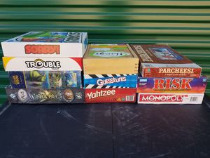 Board Games: sorry. trouble. puzzle. winter tales. Things. Guestures. Yahtzee. Parchessi. Risk. Monopoly. for Sale in Reno, NV