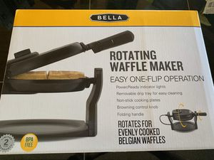 Bella rotating waffle maker kitchen appliance BRAND NEW never used black stainless steel appliance look for Sale in Vista, CA