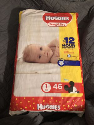 New Huggies size 1 46ct for Sale in Milton, FL