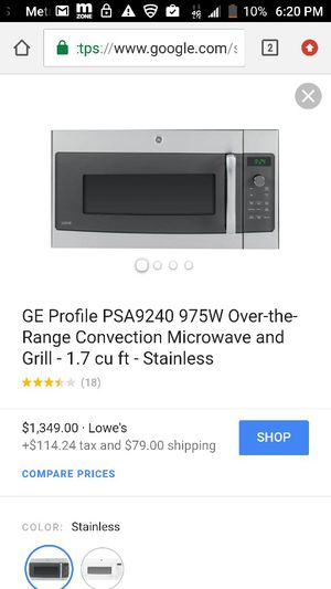 Microwave G.E profile for Sale in Cleveland, OH
