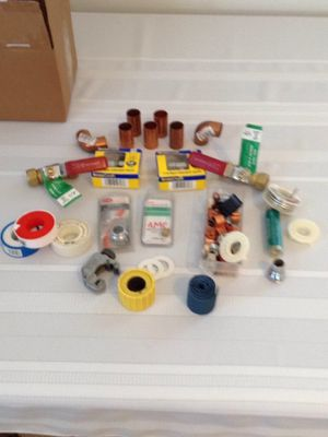 Box of Plumbing items for Sale in Braintree, MA