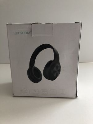 Letscom wireless Bluetooth over ear headphone- black H10 for Sale in Raleigh, NC