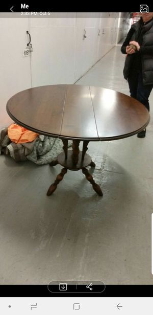 1800's antique drop leaves table for Sale in Queens, NY