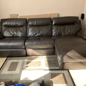 Leather Couch 3 Piece for Sale in Brooklyn, NY