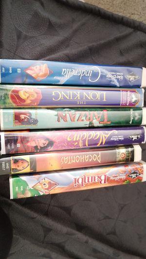 Walt Disney classics Cinderella, lion king, Tarzan, Aladdin, Bambi, and Pocahontas for Sale in Lakeside, CA
