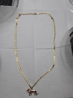 30 inch 18kt gold plated marina link chain with gold plated small lion. Great gift 80 obo for Sale in Mechanicsburg, PA