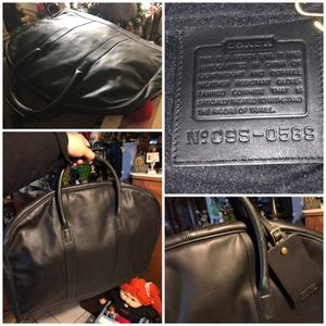 Large Coach C9S-0589 Garment Case Glove Tanned Leather Black Travel Bag SOFT LEATHER for Sale in Madera, CA