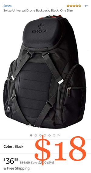 Swiza Universal Drone Backpack, Black, One Size for Sale in Ontario, CA