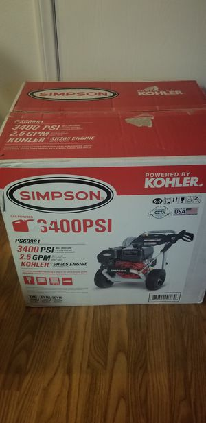 BRAND NEW, SIMPSON PowerShot 3400 PSI at 2.5PS60981 Pressure Washer for Sale in Las Vegas, NV