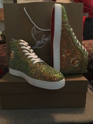 Glitter Louboutin Red Bottom high tops for Sale in Stone Mountain, GA