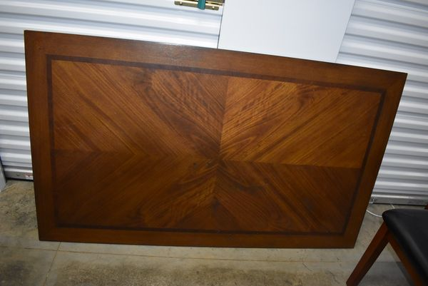 Solid Wood Dining Table w/4 Chairs & Bench Seats 6
