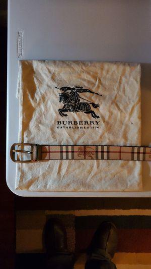 Original Men's Burberry Belt size 42 for Sale in Chula Vista, CA
