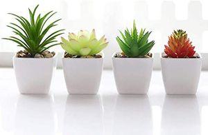 4pcs Plastic Mini Potted Fake Succulents Flower Arrangements Home Decor for Sale in Los Angeles, CA