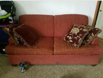 2 red couches, pull out beds for Sale in Longmont,  CO