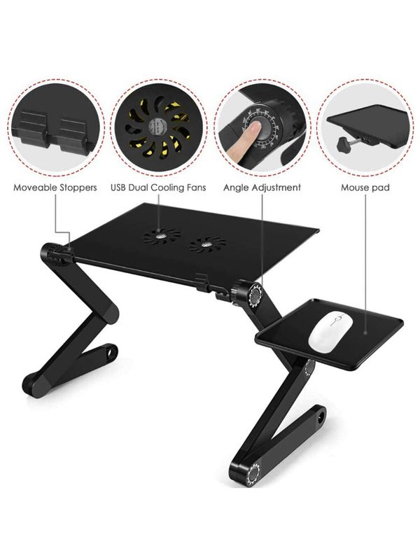 Extra Large Adjustable Laptop Stand, Aluminum Laptop Table Laptop Desk Stand.