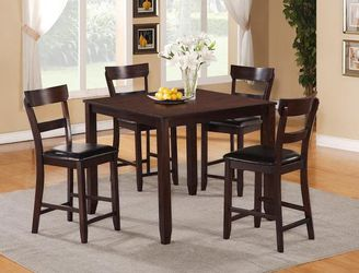 HIGH COUNTER DINIG SET, 5 PC, BROWN, SKU#TC2754 for Sale in Huntington Beach,  CA