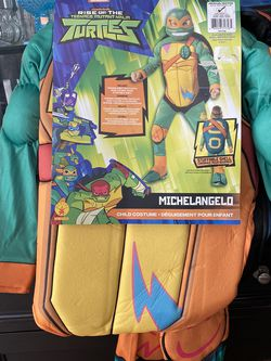 Michangelo Ninja Turtle Med.8-10 Costume New for Sale in Lithia,  FL
