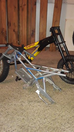 Bicycle frame an electric mini bike for Sale in Manvel, TX