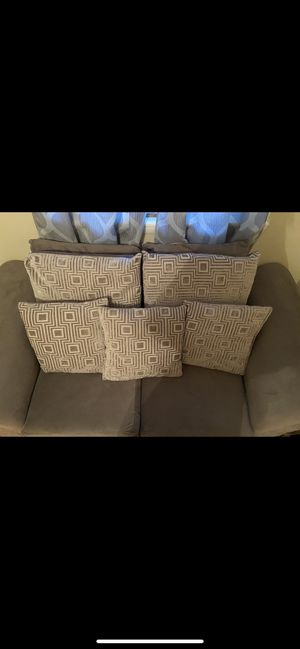 Grey Couch with Pillows for Sale in Washington, DC