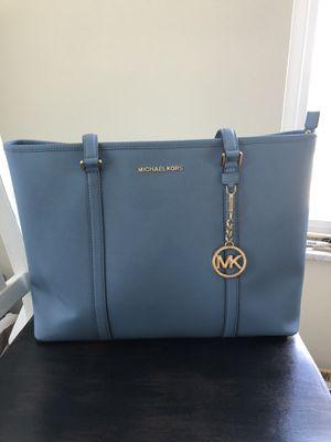 Sky Blue Michael Kors Large Purse/Briefcase for Sale in Washington, PA