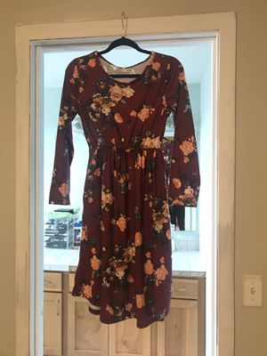 Burgundy Fall Dress Size Small for Sale in Seattle, WA