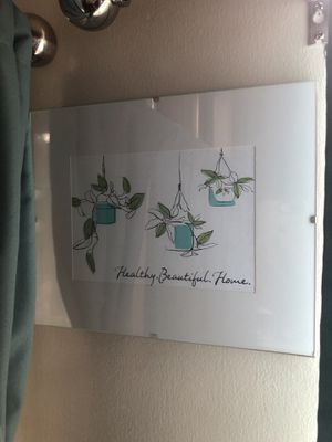 Plant picture in glass frame for Sale in Columbia, MD