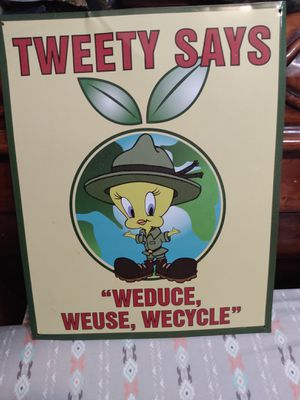 Tweety Bird bird metal sign for Sale in Greenwich, OH