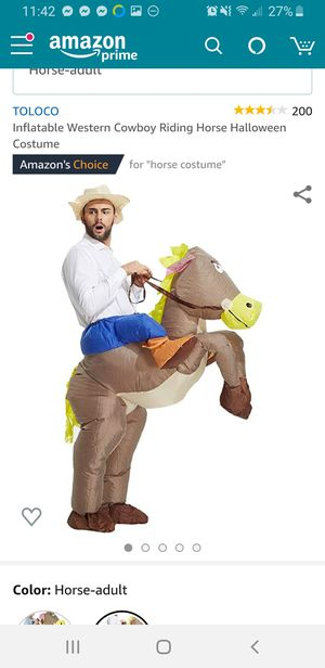 Cowboy on horse inflatable costume for Sale in Renton, WA